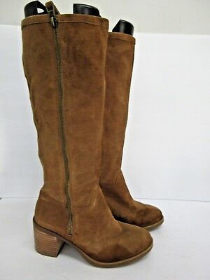 d3f49c76d99 NEW LUCKY BRAND Tan Resper Knee High Suede Leather Women's Boots Size 7.5
