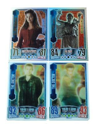 Doctor Who Alien Attax CCG 4 Limited Edition Card Set LE1 - LE4 Topps - 2013