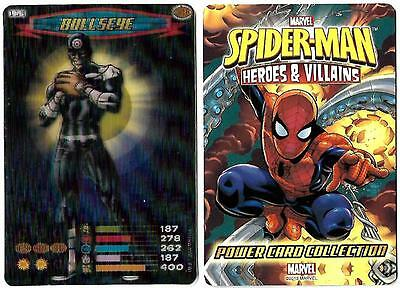 MARVEL Spider - Man Heros & Villians Ultra Rare 3D Card 119 BULLSEYE Marvel 2008