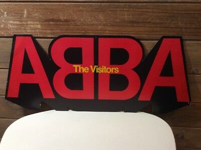"Vintage ABBA The Visitors 1981 Record Store Display 12""x30"""