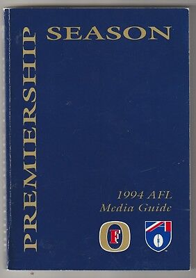Afl Media Guide For Season 1994. A Very Scarce Publication.