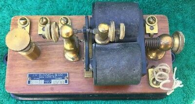 JH  Bunnell & Co Telegraph Relay Used As Is