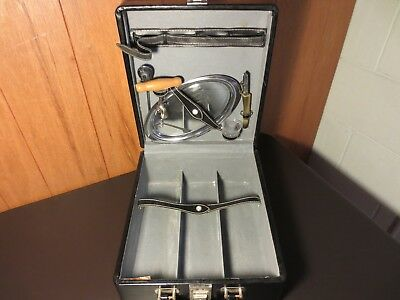 Leather Portable Travel Mini Bar Set Liquor Carry Case