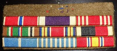 WWII theater made custom Ribbon group of 9 bars Bronze Star