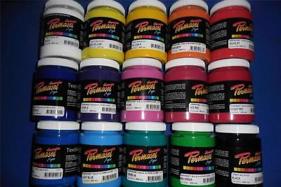 "300ml PERMASET SCREEN PRINTING ""SUPERCOVER"" INK FOR T SHIRTS OR FABRIC"