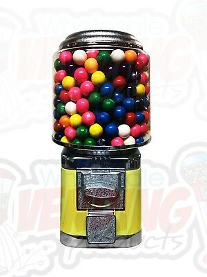 Wholesale Vending Products All Metal Bulk Vending Gumball Candy Machine (YELLOW)