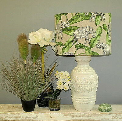 Aus Made Lampshade Green/Grey Drum 2 sizes, 2 Fittings Made to Order 1-2 weeks