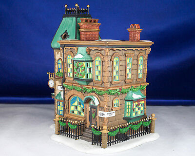 """Dickens Village Dept 56 """"Thomas Mudge Timepieces"""" Complete In Box PERFECT!"""