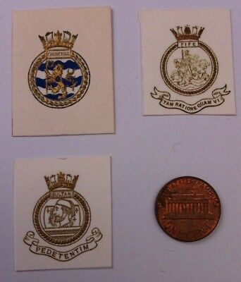 Royal Navy Christmas Card Ship's Badges