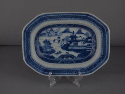 Chinese Export Blue And White Nanking Platter Circa 1800
