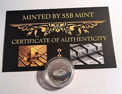 "1/10th Oz 99.9% Pure Silver Bullion Coin, ""Brown Snake"" (Aust Series) with C.O.A"