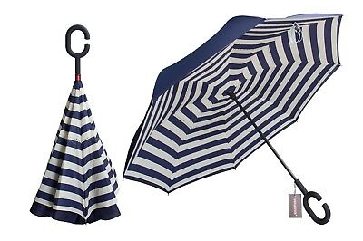Double Layer Inverted Umbrella Inside Out Reverse Windproof Umbrella UV Protect
