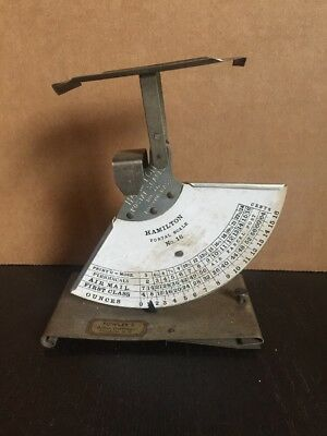 Vintage Hamilton Postal Scale No. 16 Fowlers Office Outfitters Charlotte NC