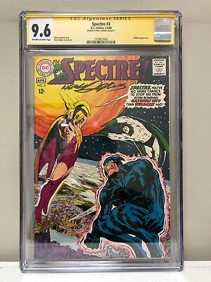 The Spectre #3 Cgc Ss 9.6 Nm Dc Comics Silver Age Spectre! Signed By Neal Adams!