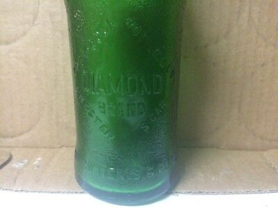 VINTAGE DIAMOND BRAND COCA COLA GREEN SODA BOTTLE CHESTER SOUTH CAROLINA 6oz