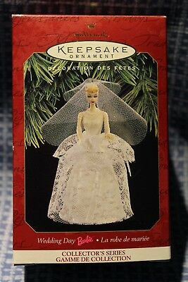 Hallmark  Keepsake Ornament Wedding Day Barbie 1997