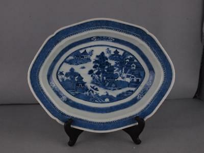 Fine Chinese Export Blue And White Nanking Platter - Liner Circa 1790