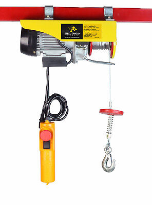 Steel Dragon Tools® 440 LBS Mini Electric Wire Cable Hoist Overhead Crane Lift