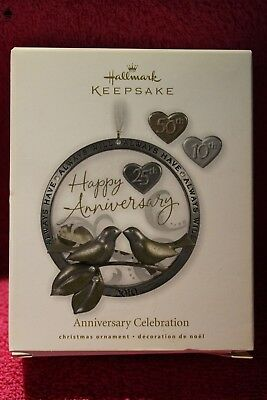 Hallmark  Keepsake Holiday Ornament 25Th  Anniversary Celebration 2010