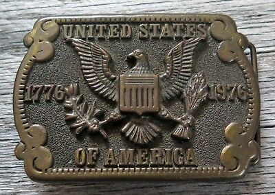 Great Seal Of The United States Bicentennial ADEZY 1970's Vintage Belt Buckle
