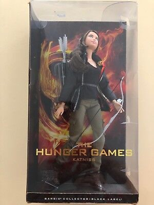 Katniss The Hunger Games Barbie Doll Black Label in box 2012