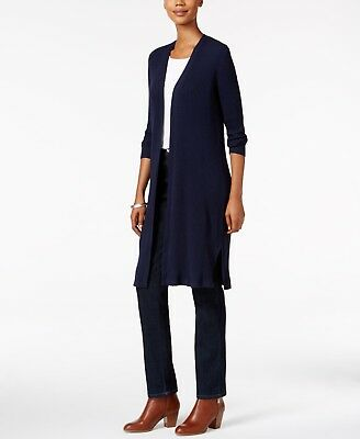 NEW Style&Co Women's PM Striped Duster Cardigan MSRP $69.50