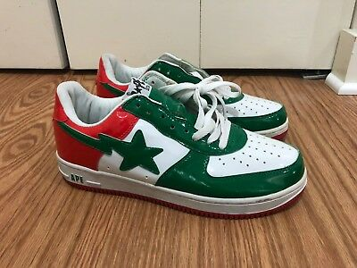 3cb5b0d4b547 A BATHING APE BAPESTA Red Green White sneakers size US 10 -  124.99 ...