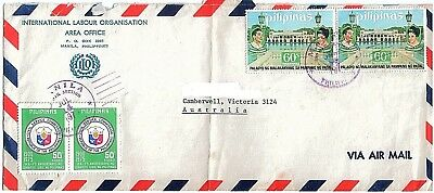 Air Mail Cover with Stamps Philippines to Australia 1970s