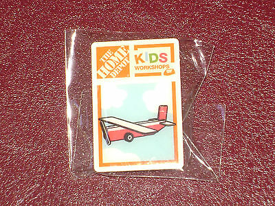 New Home Depot Kids Workshop Fire Rescue Plane Pin Collectible Rare Collectors