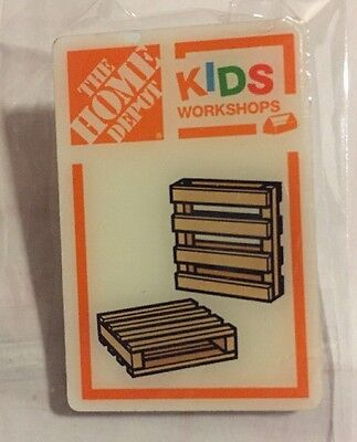 New Home Depot Kids Workshop Pallet Coasters Pin Collectible Rare Collectors
