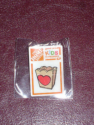 New Home Depot Kids Workshop Heart Box Pin Collectible Rare Collectors