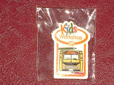 New The Home Depot Kids Workshop School Bus Pin Collectible Very Rare