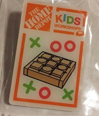 New Home Depot Kids Workshop Tic Tac Toe Game Pin Collectible Rare Collectors