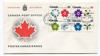 Canada FDC 1970 EXPO 67 Osaka Japan - Block of 4 - CPC Replacement Cachet Cover