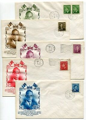 Canada FDC 1949 George VI Postes / Postage - Attractive SET of Cachet Covers -