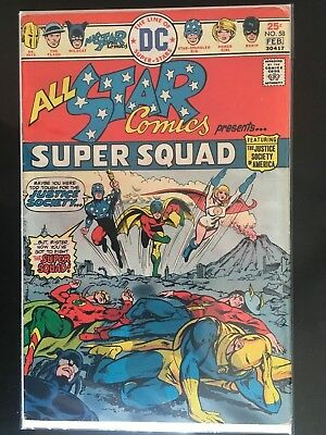 ALL-STAR COMICS #58 - 1st Appearance of POWER GIRL - DC - 1976