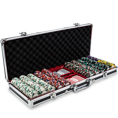Claysmith Gaming Poker Knights Chip 500 Count Set in Black Aluminum Case