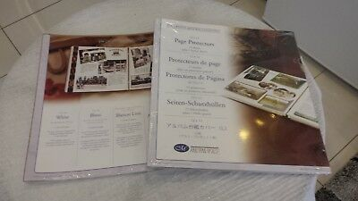 Creative Memories Old Style 12x12 White Pages & Page Protectors (side load)