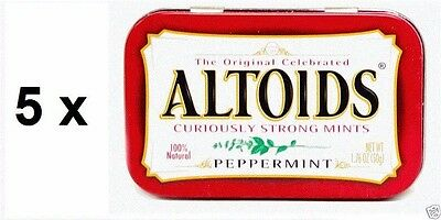 Altoids Curiously Strong Mints - Peppermint 50g (packet of 5)