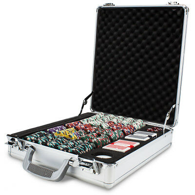 Claysmith Gaming Poker Knights Chip 500 Count Set in Silver Aluminum Case