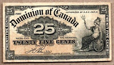 Canada VF Note 25 cents 1900 P-9b