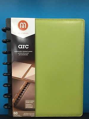 M by Staples ARC Customizable Notebook System Green Measures 8.5 x 5.5in (20875)