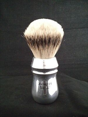 Large hands? Arthritis? XXL Pro Aluminum Silvertip Brush by Zenith 28mm Knot P12