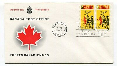 Canada FDC 1968 Lacrosse / Sports - Pair on CPC Replacement Cachet Cover 2 of 2
