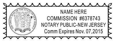 Custom Official Notary Public New York Self Inking Rubber