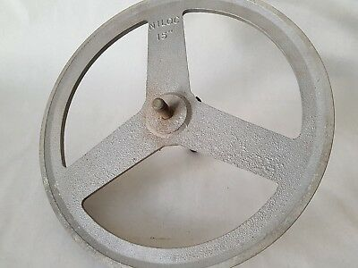 "PULLEY - ALUMINIUM - NILOC 15"" Aluminium V Belt Pulley Single Groove"