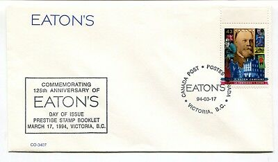 Canada FDC 1994 Eatons Issue - Victoria BC - Special CDS Cancel Cover -