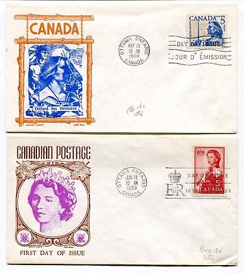 Canada FDC 1959 Royal Visit / 1960 Dollard Des Ormeaux - Two Cachet Craft Covers