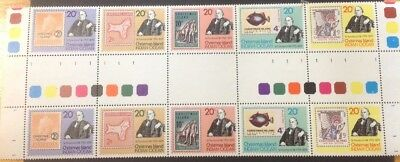 Christmas Island 1979 Rowland Hill gutter block of 10 MUH