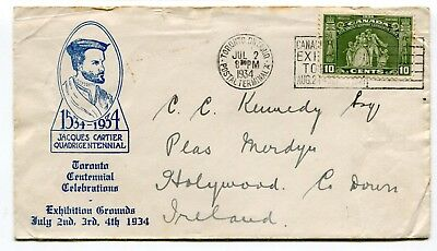 Canada FDC 1934 Empire Loyalists - Toronto July 2nd - Second Day of Issue Cover